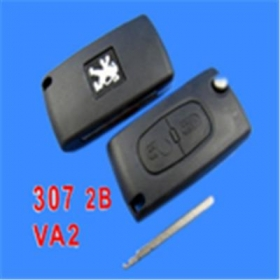 Peugeot Remote Key 2 Button Mh 433 (307 Without Groove)