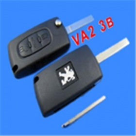 Peugeot Remote Key 3 Button Mh 433 (307 With Groove)