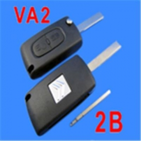 Citroen Remote Key 2 Button mhz 433( without Groove)