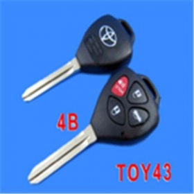Toyota Camry Remote Key Shell 4 Button (Band Red Button)