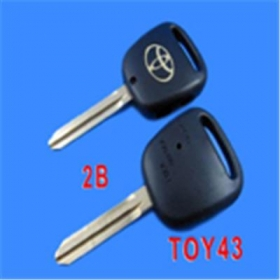 Toyota Key Shell Side 2 Button Toy43